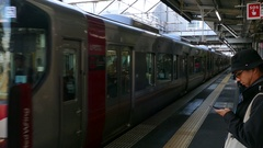 Local Train In Hiroshima JR Railway Station Japan Asia Stock Footage