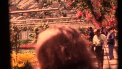 Vintage 8mm home movies, Arboretum guests and buyers Stock Footage