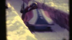 Bobsleds Olympics 1970's, American team Stock Footage
