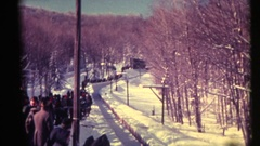 Bobsleds Olympics 1970's Stock Footage