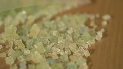 Crystal Meth poured out of baggie and sampled Stock Footage