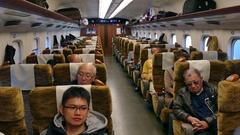 People Traveling On Shinkansen Bullet Train In Japan Asia Stock Footage