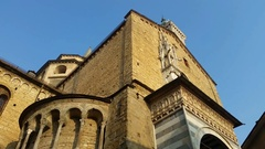 Bergamo - Old city. the Cathedral called Santa Maria Maggiore Stock Footage
