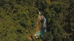 Beautiful tropical waterfall. Philippines Cebu island Stock Footage