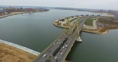 Kazan, Tatarstan Millennium Bridge Stock Footage