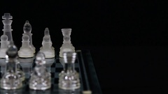 Camera Movement Across Chess Board With Pieces In Starting Position Stock Footage