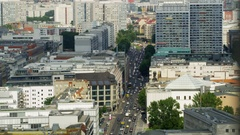 Aerial on Berlin Mitte - Leipziger Strasse Stock Footage