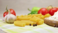 Ingredients for delicious dinner Stock Footage