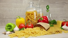 Fresh ingredients for Bolognese Stock Footage