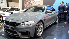 BMW M4 coupe sports car Stock Footage