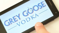 Best Alcoholic Drink Brands on Smartphone Screen Stock Footage