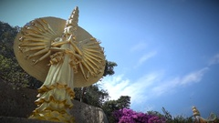 Khao Takiab Buddhist Chinese temple Hua Hin Thailand Stock Footage