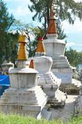 Buddhistic stupa Stock Photos