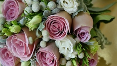 Wedding colorful bouquet for bride Stock Footage