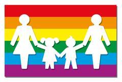 LGBT Parenting Pride Flag Icon Moms Stock Illustration