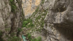 AMAZING AERIAL SHOT FROM VERDON CANYON Stock Footage