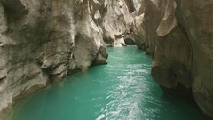AMAZING AERIAL SHOT INTO THE VERDON CANYON Stock Footage