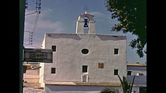 Historical Sant Josep Ibiza Stock Footage