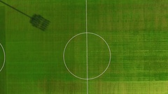 View of football ground Stock Footage