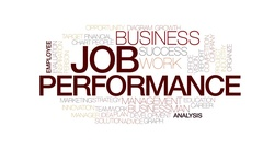 Job performance animated word cloud, text design animation. Kinetic typography. Stock Footage
