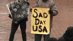 Sad Day USA Sign Stock Footage