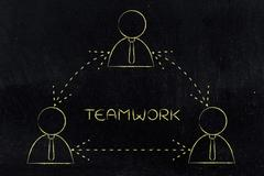Businessman group working as team or sharing feedback Stock Illustration
