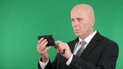 Businessman Using Cell for Accessing Email Box Browse Internet Connection. Stock Footage