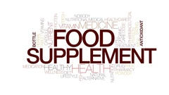 Food supplement animated word cloud, text animation. Kinetic typography. Stock Footage