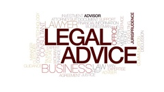 Legal advice animated word cloud, text animation. Kinetic typography. Stock Footage