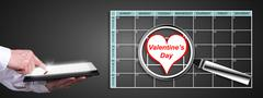 Valentines day on planner Stock Photos