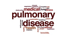 Pulmonary disease animated word cloud, text design animation. Stock Footage