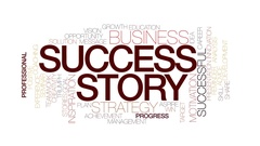Success story animated word cloud, text animation. Kinetic typography. Stock Footage