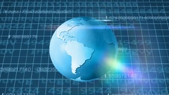 Earth Rotation   Cyberspace   Below View   blue Stock Footage