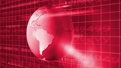 Earth Rotation   Cyberspace   Right View   red Stock Footage