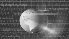 Earth Rotation   Cyberspace   Upper View   black Stock Footage