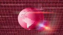 Earth Rotation   Cyberspace   Upper View   red Stock Footage