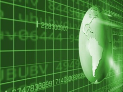 Earth Rotation   Cyberspace   Left View   green   SD Stock Footage
