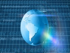 Earth Rotation   Cyberspace   Below View   blue   SD Stock Footage