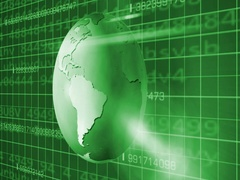 Earth Rotation   Cyberspace   Right View   green   SD Stock Footage