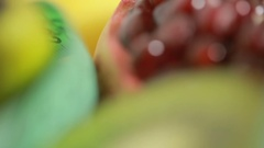 Fruits and measuring tape close up. The concept of diet Stock Footage