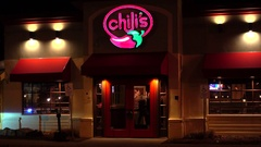 Chilis grill and bar tex mex casual dining restaurant Stock Footage