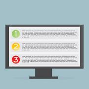 Monitor with list Stock Illustration
