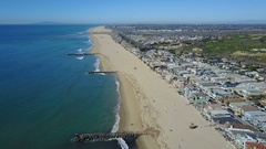 4K Newport Beach, Orange County - Lowering to the beach. Stock Footage