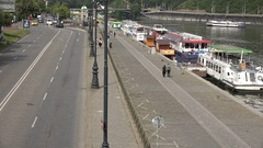 4K Aerial view traffic street in suburban area Prague people commute travel day Stock Footage