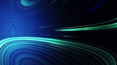 Blue Abstract technology background. Rays of light are blinking and moving Stock Footage