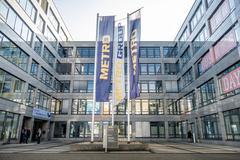 Metro headquarter building in Duesseldorf Stock Photos