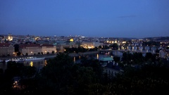 4K Timelapse nightfall Prague old town building of residential area attraction Stock Footage