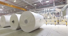 Alabuga plant, factory, papermaking, paper industry Stock Footage