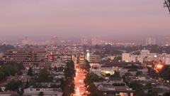 Culver City Traffic Time Lapse in Los Angeles California - Tilt Down Stock Footage