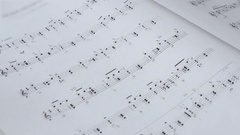 Sheet Music Background Musical Notes Stock Footage